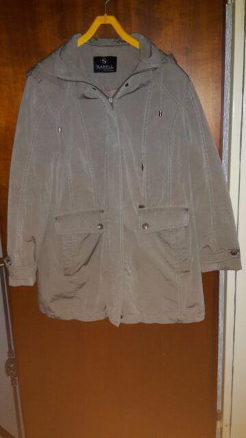 Damen Jacke, Winterjacke, Gr. 44, beige, warm wattiert, Kapuze, Maschinenwäsche
