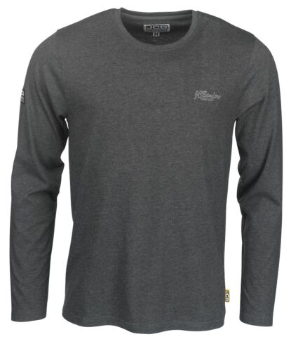 JCB Trade Long Sleeved T-Shirt Grey (Sizes S-XXL) Men's Work Top