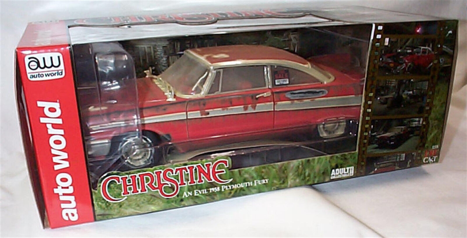 Christine 1958 Plymouth Fury Dirty Version Working Lights échelle 1 18 ASS119