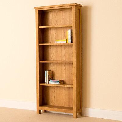Lanner - Oak Large Bookcase / Shelving / Rustic Oak Tall Handcrafted Bookshelf