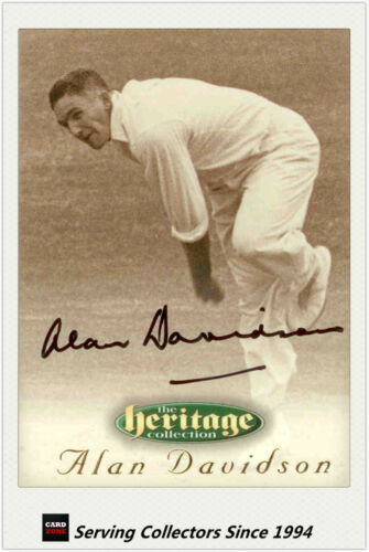 1996 Futera Cricket Heritage Collection Signature Card NO24 Alan Davidson
