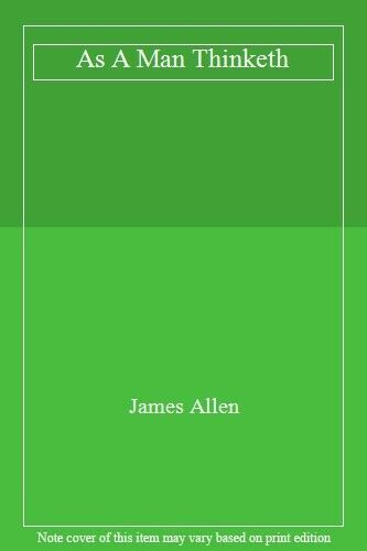 As a Man Thinketh.by Allen, James  New 9781934451397 Fast Free Shipping.#