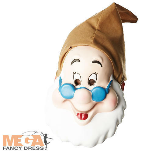 Dwarf Doc Mask Snow White Disney Adult Fancy Dress Mens Costume Mask