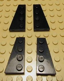 LEGO 4 x 2 DARK RED LEFT AND RIGHT WEDGE PLATE PART 41770 /& 41769