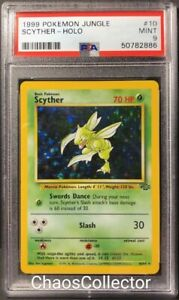 1999 Pokemon Jungle Scyther #10 Holo Rare PSA 9 MINT.