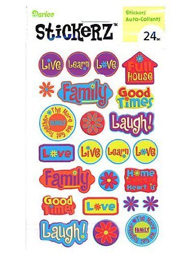 Stickerz Scrapbook Stickers Live Love Laugh 24pc 1214 15