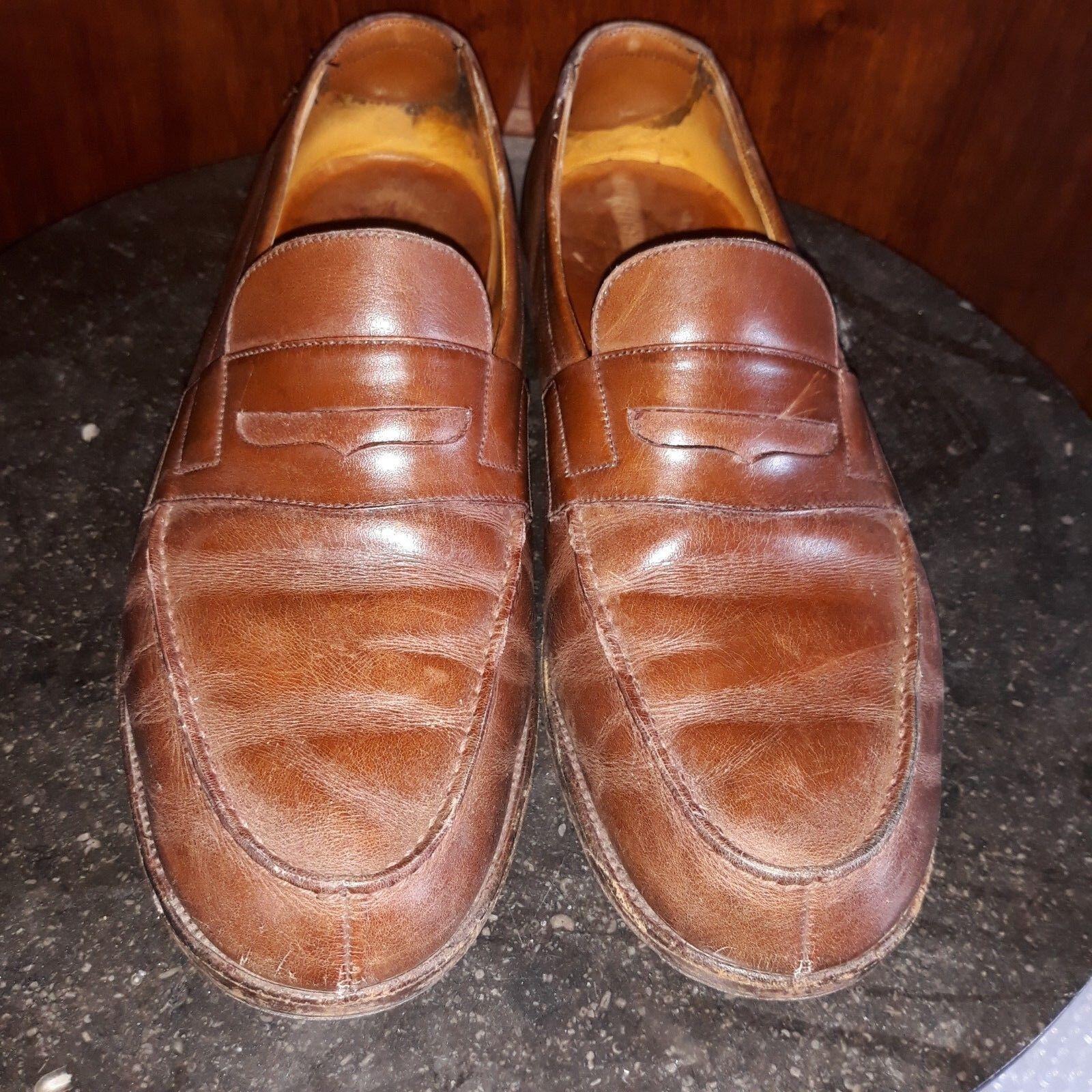 JM FR WESTON.CHAUSSURES.Schuhe.MOCASSINS US 8 D FR JM 42  COGNAC. bon état. 0edaa4