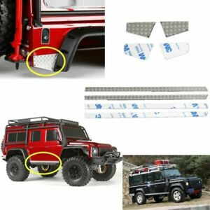Edelstahl-Rear-Metall-Checker-Plate-Side-Plate-Fuer-Traxxas-TRX-4-TRX4-RC-Auto