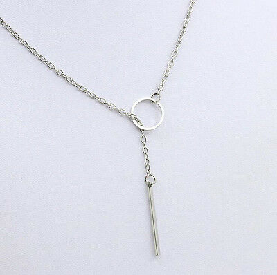 Fashion Silver Chain Chunky Statement Bib Charm Pendant Chain Necklace Jewelry