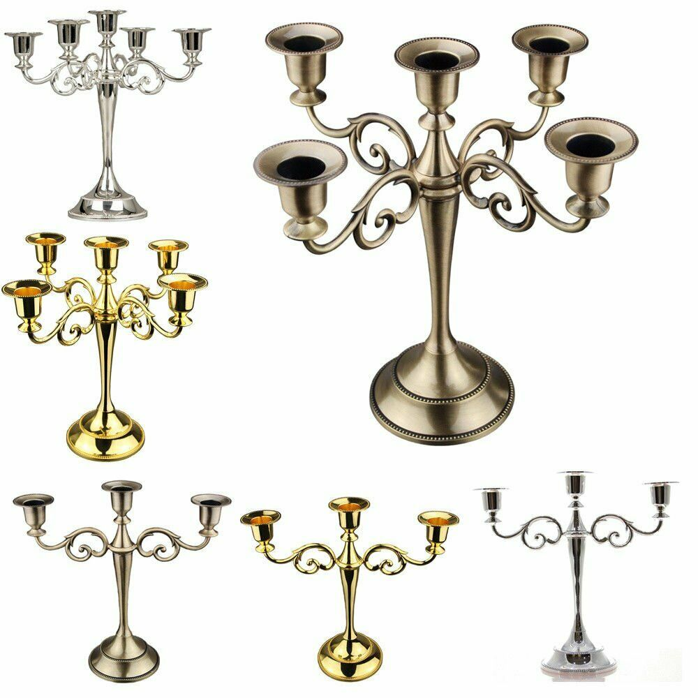 Kerzenständer 5-armig Kerzenleuchter Vintage Antike Kandelaber