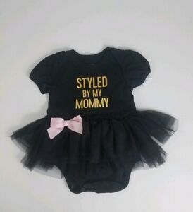 23e108b4f Childrens Place Infant Girls Little Black Dress Bodysuit Size 6- 9 ...