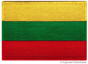 LITHUANIA-FLAG-embroidered-iron-on-PATCH-LITHUANIAN-EMBLEM-Baltic-States