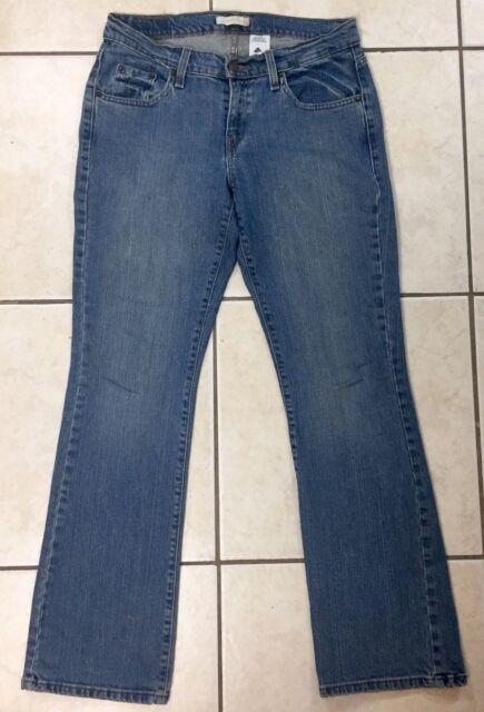 0c6b4414c64 Levi's 529 Womens Curvy Boot Cut Jeans Size 10 Mid Rise Med Wash Denim 32  Inseam