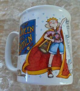 Mary-Engelbreit-ME-Mug-Cup-034-The-Queen-Has-Spoken-034-w-kitty-amp-list-of-demands