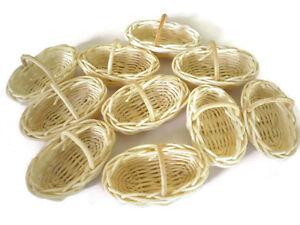 10 Oval Wicker Basket Dollhouse Miniatures Bakery Fruit Vegetable