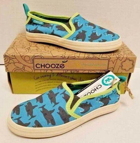 Kids Boys Chooze Move Chomp Blue Grey Slip-On US 11M Shoes NIB