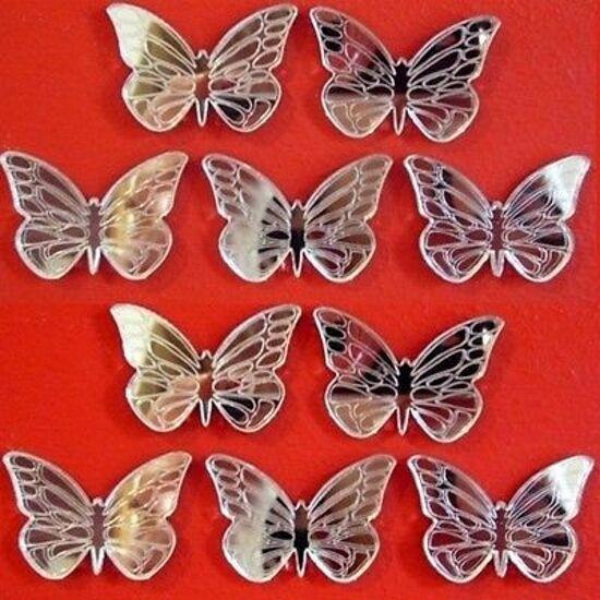 Papillon Valeur & Paquets,Artisanat & Valeur Décoratif (Miroir Acrylique & Tapis e62326