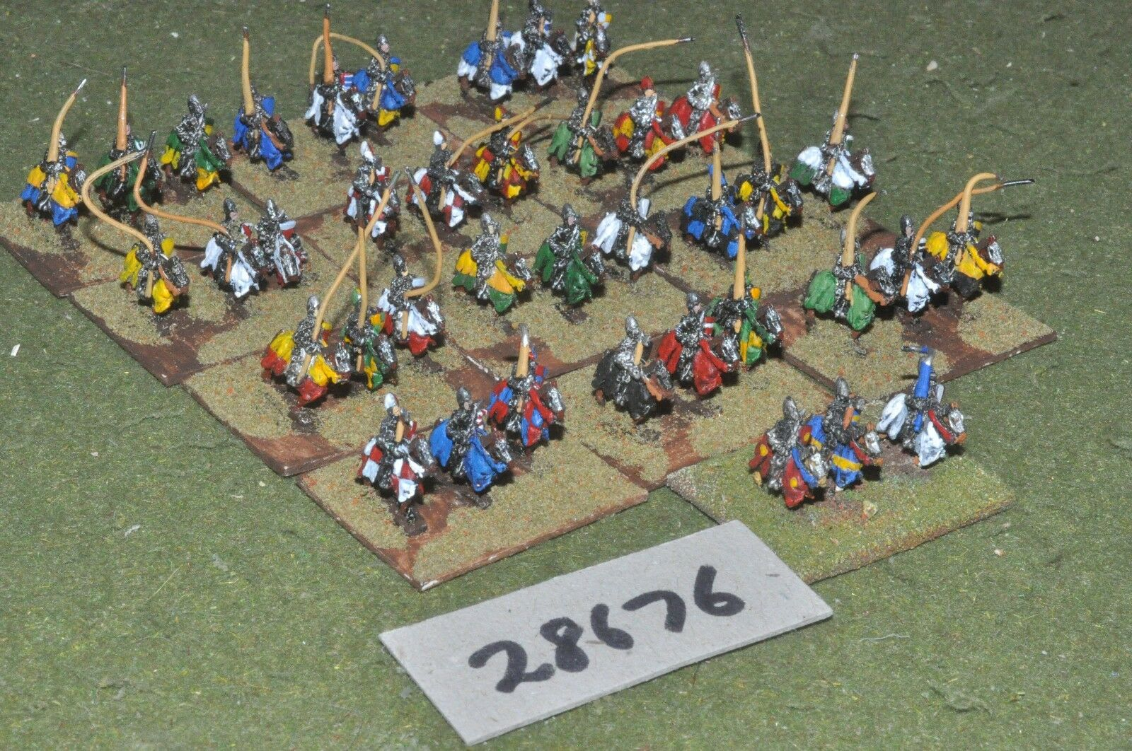 10mm medieval   french - 100yrs war knights 39 figures - cav (28676)