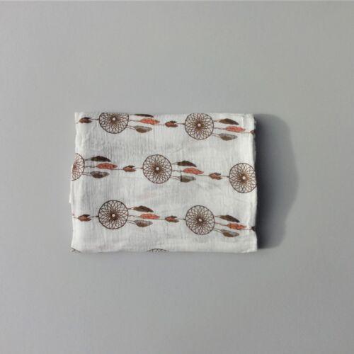 120 cm Large 100/% Cotton Muslin Swaddle Blanket Squares Wrap