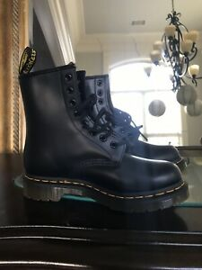 Smooth Leather Black Boots US Size