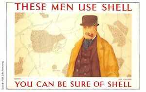 Post Card PUBLICITE ADS SHELL OIL n1 ILLUSTRATION JOHN ARMSTRONG