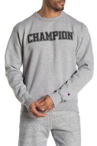 Champion-Mens-Hoodie-Sweatshirt-Front-Graphic-Print-GRAY-size-M-new