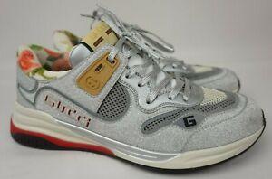 Gucci Ultrapace Silver Glitter Sneakers