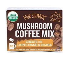 Four Sigma Foods Mushroom Coffee With Lions Mane & Chaga 10 Sachets