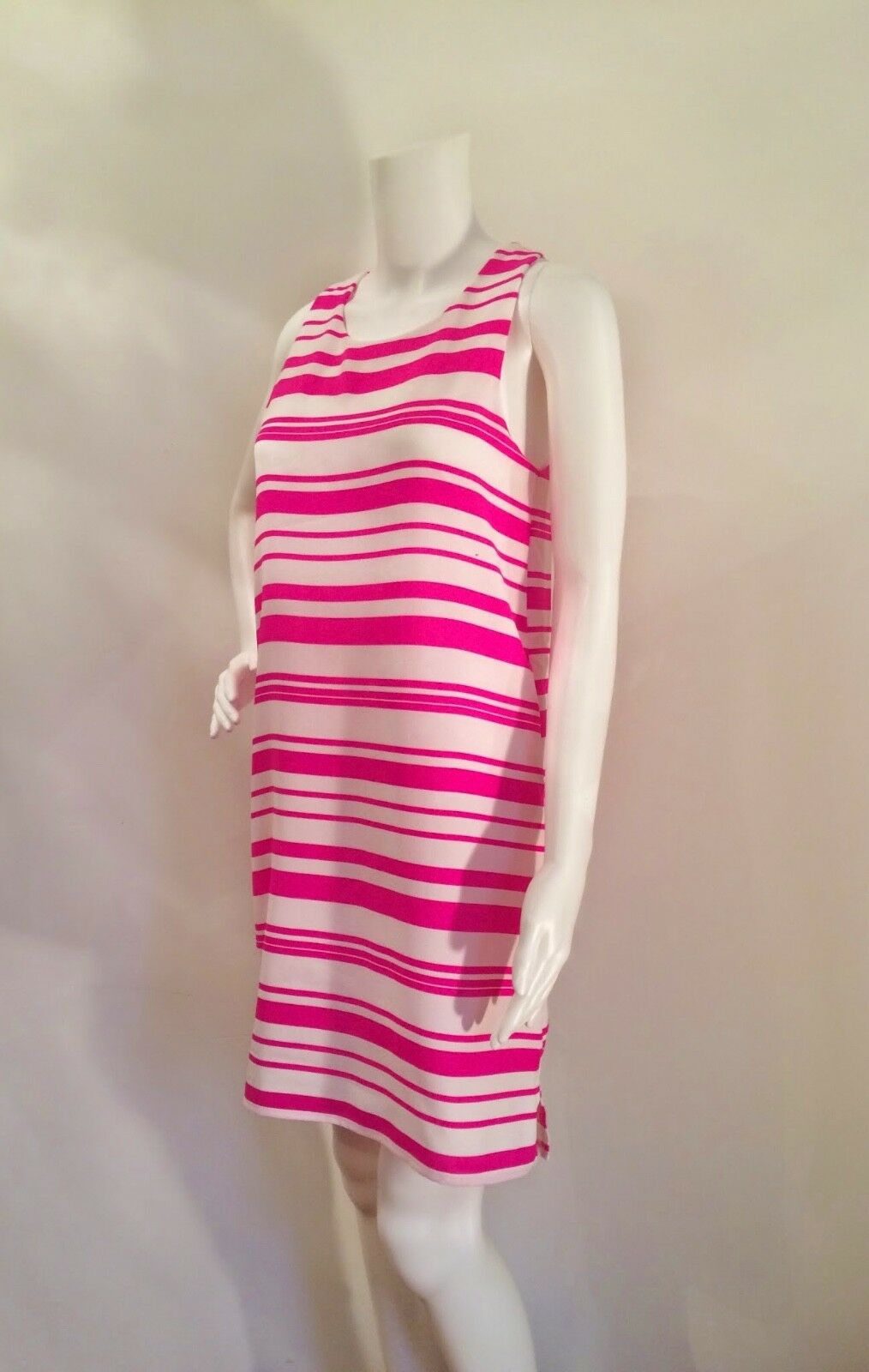 Everly Pink and White White White Striped Sheath Dress size Small bd9dbc