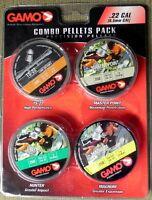 Gamo Combo Pellets Pack .22 Caliber, Four (4) Pellet Types 950 Total Pellets