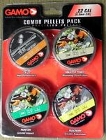 Gamo Combo Pellets Pack .22 Caliber, Four (4) Pellet Types 950 Total Pellets