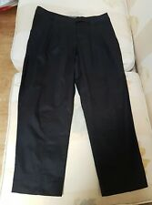 Calvin Klein cropped cotton Trousers Black UK size 8 / S RRP £99.99