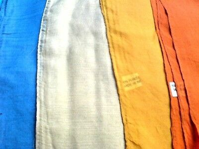 "INDIAN 100/%PURE SILK HANDMADE SQUARE SCARVES 21/""//x 21/"" 5 PLAIN COLOURS £7.50each"