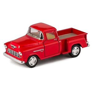 Kinsmart-1955-Chevy-Stepside-3100-Pick-up-truck-1-32-diecast-car-RED-chevrolet