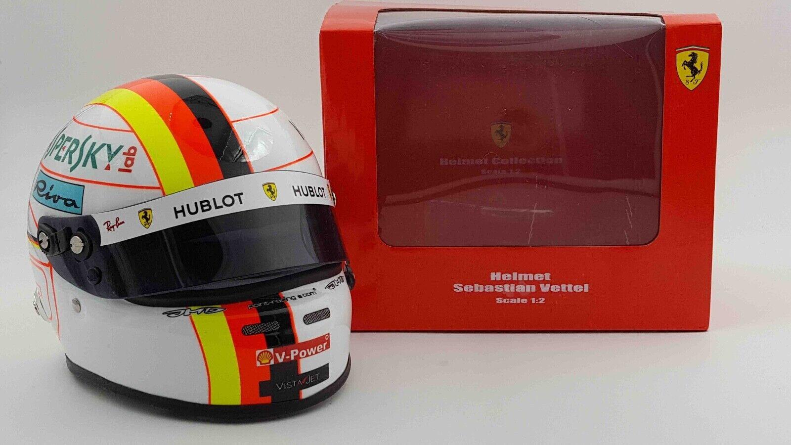 Arai Helmets 1 2 Scale Sebastian Vettel 2019 F1 Miniature Scale Helmet Model