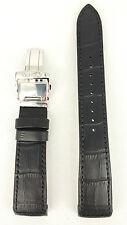 Seiko Premier Kinetic Black Strap 5M54 0AA0 SRN005P1 Watchband 4A072 21mm 5D88