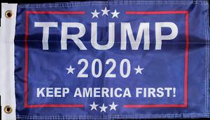 Flags TRUMP 2020 FLAG NAVY OFFICIAL NYLON USA American KEEP ...