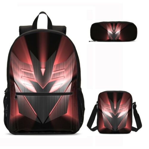 Transformers Schoolbag Kids Boys Backpack Insulated Lunch Bag Pen Bag Purses LOT