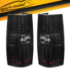 LED Brake Tail Lights for 2007-2014 Chevy Suburban Tahoe Black Smoke Rear Lamps