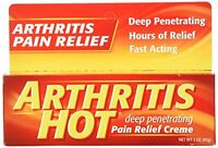 2 Pack - Arthritis Hot Deep Penetrating Pain Relief Cream 3 Oz Each on sale