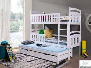 Etagenbett Für 3 : Kinderbett etagenbett hochbett kinder bett holz betten stockbett