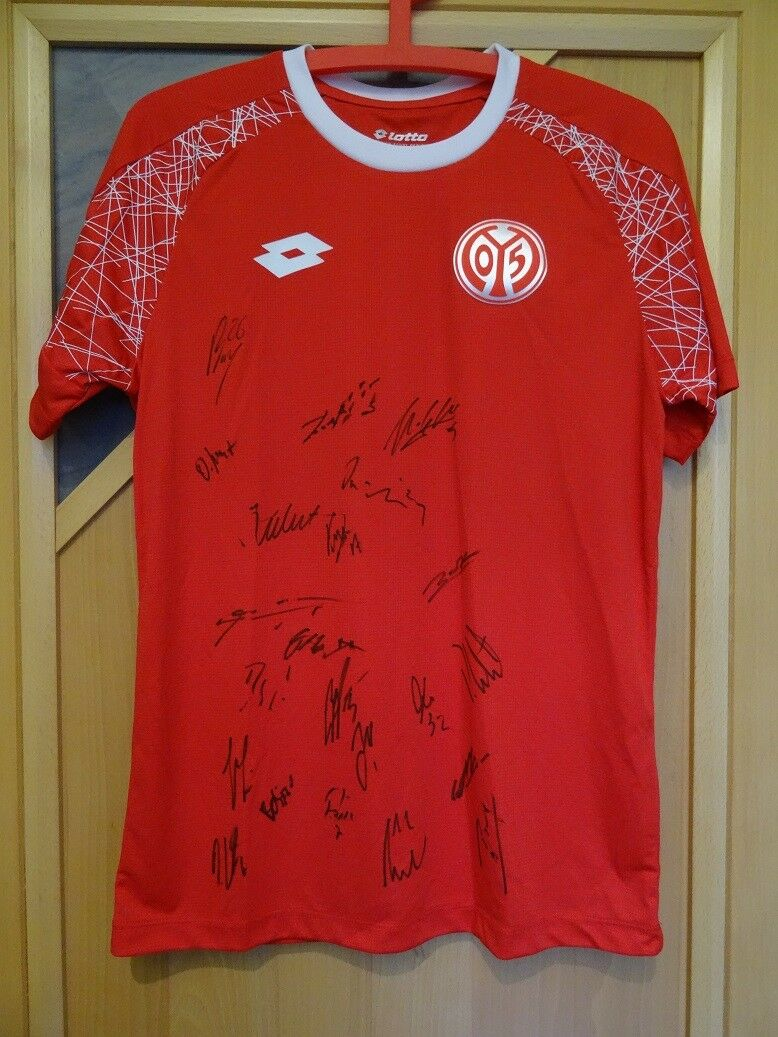LOTTO Trainings - Trikot 1. FSV Mainz 05 Trainingsshirt SIGNIERT vom Team S NEU
