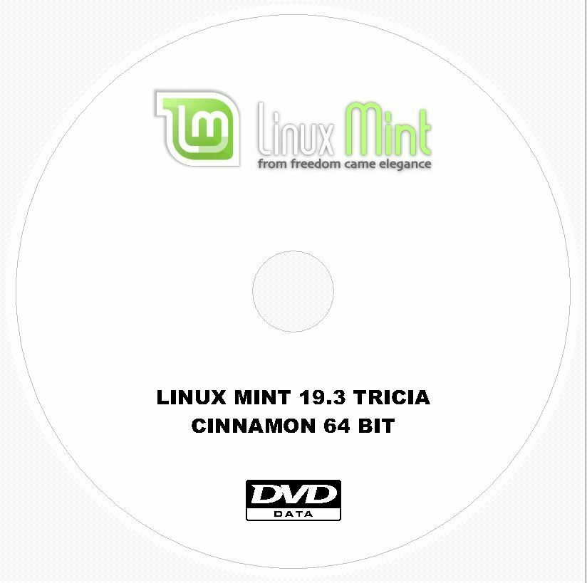Linux Mint 19.3 Tricia Cinnamon Install Disc