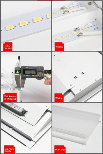 LED Troffer Retrofit Kit Light 2 x 2 40 Watt Drop in Office Ceiling Lighting