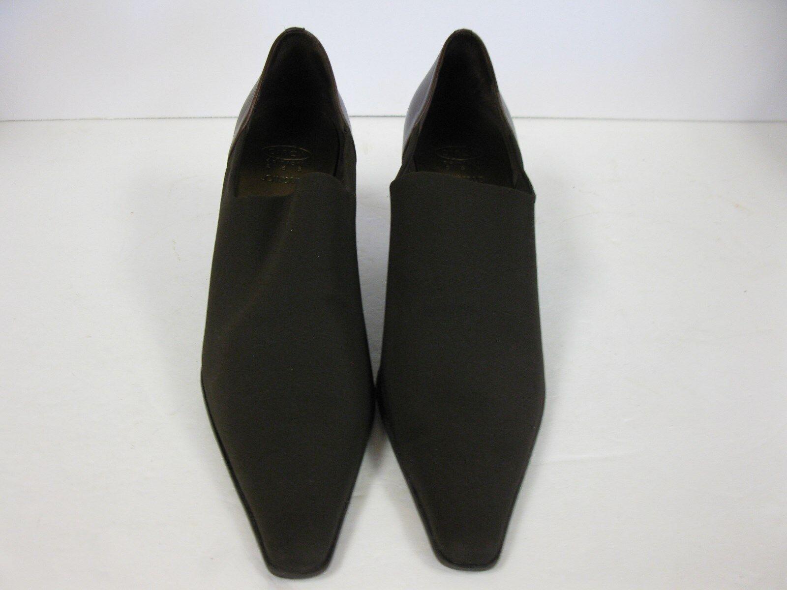 Circa Joan & David Solanda Brown Stretchy Fabric Pumps Heels Donna size 9.5