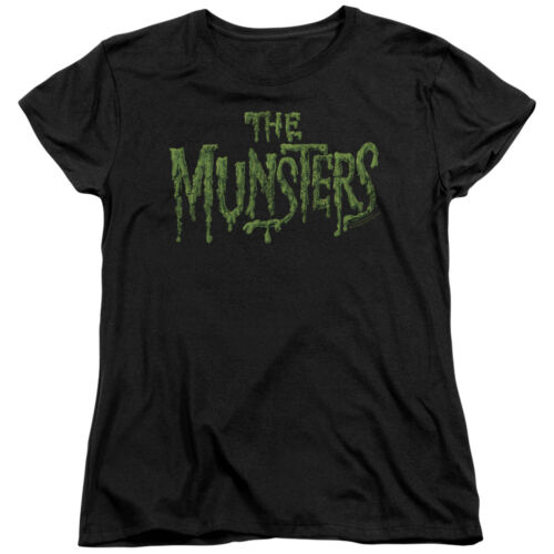 The Munsters TV Show Classic DISTRESSED LOGO Licensed Women/'s T-Shirt All Sizes