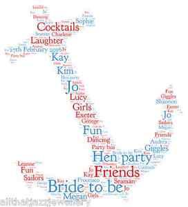 Personalised word art print hen do anchor sailor birthday gift la imagen se est cargando palabra personalizado art print gallina do ancla marinero gumiabroncs Choice Image