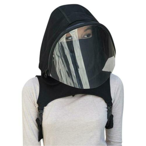 Sports Breathable Clear Full Face Mask with Hooded Hat Protective Wear Adult Cap