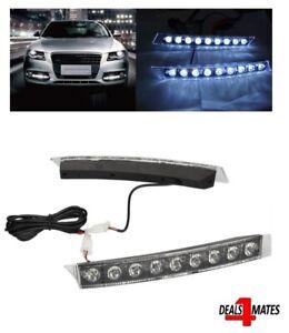 12-034-Set-9-Led-Side-Bumper-High-Power-DRL-Daytime-Running-Lights-Audi-VW-Style