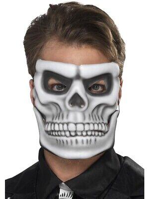 Led Light Up Skull Mask Skeleton Halloween Rave Cosplay Costume Party NWOT